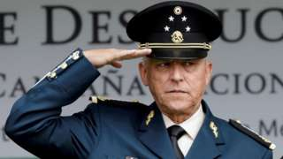 """Mexico""""s former defense Minister General Salvador Cienfuegos attends an event at a military zone in Mexico City, Mexico September 2, 2016"""