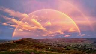Rainbow from Mam Tor