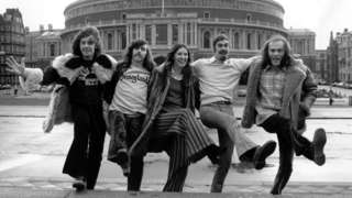 Steeleye Span outside the Royal Albert Hall