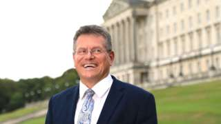 European Commission Vice President Maros Sefcovic in Northern Ireland