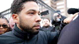 Jussie Smollett coming out Cook County jail
