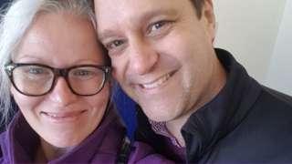 Sian Brindlow and her husband