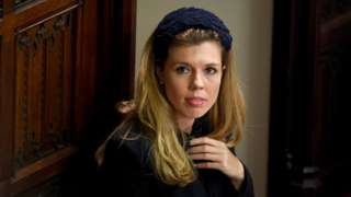 Carrie Symonds, the partner of Prime Minister Boris Johnson, in the Palace of Westminster, London, ahead of the State Opening of Parliament by Queen Elizabeth II, in the House of Lords.