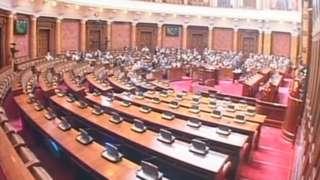 Полупразна сала народне скупштине