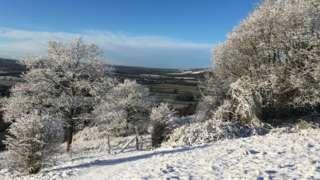 Snow in Otford Kent