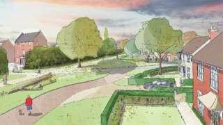 Artist's impression of Gillingham development