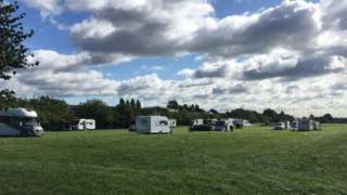 Land close to Camp Hill Primary School in Nuneaton where travellers arrived in September 2017