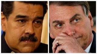 Nicolás Maduro e Jair Bolsonaro