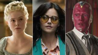 Elle Fanning in The Great, Jenna Coleman in The Serpent and Paul Bettany in WandaVision