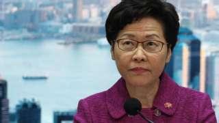 林鄭月娥在香港政府總部發佈《香港維護國家安全法》(1/7/2020)