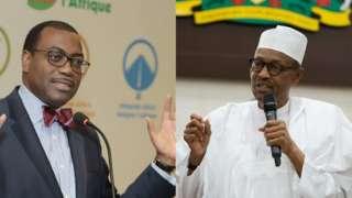 Akinwumi Adesina and Buhari