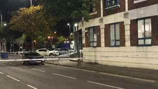 Scene near Victoria Street in Belfast