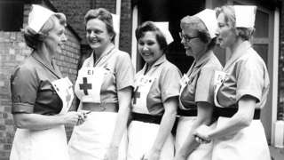 Valerie Middleton, grandmother of the Duchess of Cambridge, as a Red Cross nurse