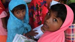 Rohingya refugee children