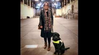 Kirsty James with her guide dog