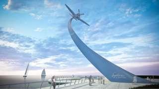 Spitfire monument design