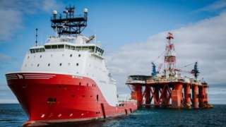 Một dàn khoan dầu trên Biển Đông