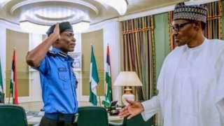 Mohammed Adamu na Muhammadu Buhari