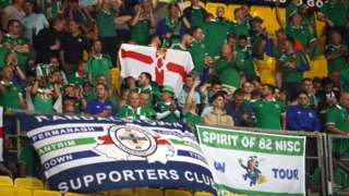 Northern Ireland fans during the Uefa Nations League