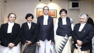 Chief Justice of India Ramana with female judges
