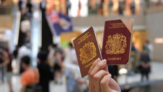 Two British National Overseas (BNO) passports