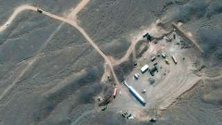 A satellite image shows Iran's Natanz nuclear facility in Isfahan, Iran, 21 October 2020