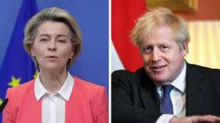 Ursula von der Leyen ve Boris Johnson