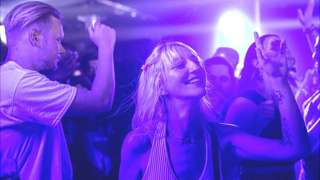 People dancing at Egg London nightclub in the early hours of July 19, 2021 in London, England.