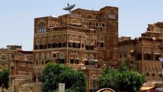 Buildings in the Yemeni capital Sanaa