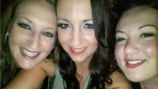 Stacey with her two sisters, Lindsey and Lianne