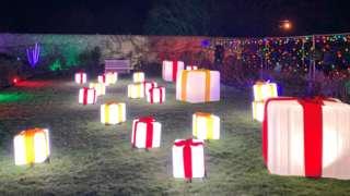 The Festive lights show at Fonmon Castle