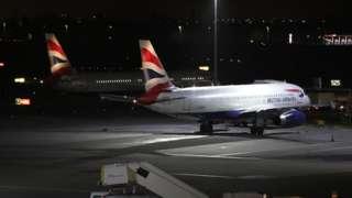 Planes at Terminal 5 at Heathrow