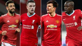 Bruno Fernandes, Jordan Henderson, Harry Maguire and Sadio Mane