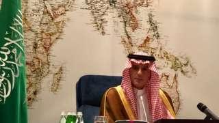 21일 기자회견을 연 아델 알주바이르 사우디 외교담당 국무장관