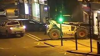 Leicestershire cash machine raid