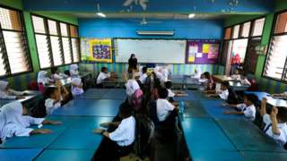 File photo of students at a Shah Alam school