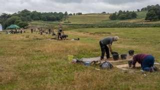 Excavation of test pits at Bradgate park