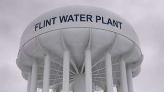Water tower in Flint, Michigan
