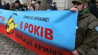 Акція протесту проти окупації Криму