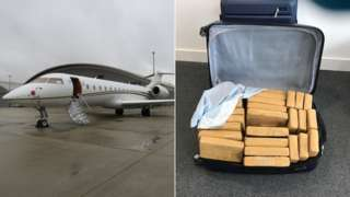 Cocaine plane and suitcase