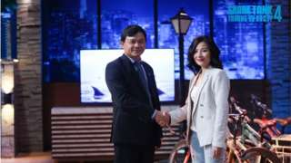 Thu Hằng, đồng sáng lập và điều hành Wiibike và shark Phú