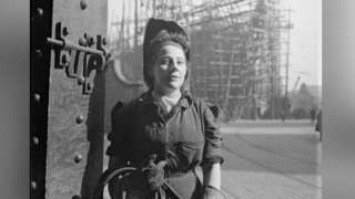 Unknown women worker at a Newcastle Shipyard