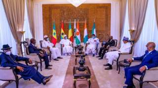 ECOWAS Leaders for Peace Mission in Bamako Mali
