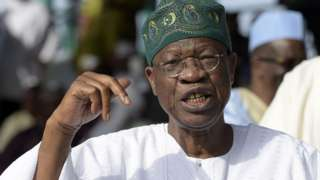 Nigeria Minister of Information and Culture Lai Mohammed