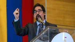 Freddy Guevara giving a speech in November 2020