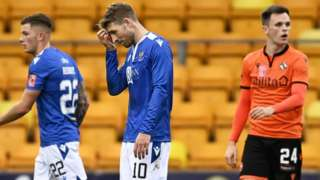 David Wotherspoon and Lawrence Shankland after the 0-0 draw between St Johnstone and Dundee United