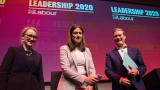 Rebecca Long-Bailey, Lisa Nandy and Sir Keir Starmer