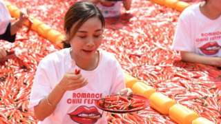 Chilli eating contest in Hanghzou