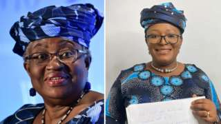 Temie Giwa-Tubosun dress up like Ngozi Okonjo-Iweala