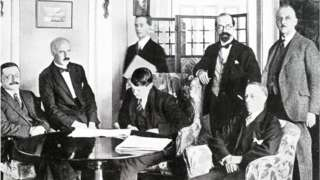 Signing of the Anglo-Irish Treaty on 6 December 1921